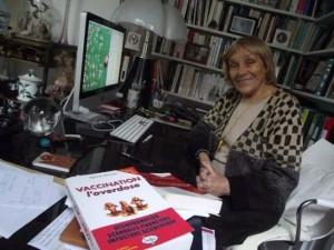 Sylvie Simon dans son appartement parisien, en mars 2012. Photo Pryska Ducoeurjoly